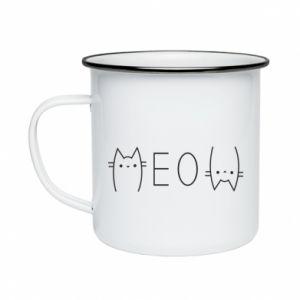 Kubek emaliowane Meow kot - PrintSalon