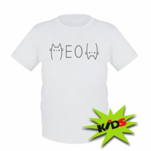 Dziecięcy T-shirt Meow kot - PrintSalon