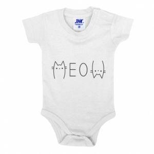 Body dla dzieci Meow kot - PrintSalon