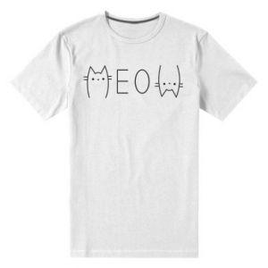 Męska premium koszulka Meow kot - PrintSalon