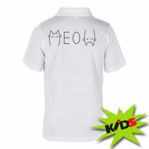 Children's Polo shirts Meow cat