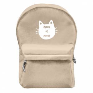 Backpack with front pocket Meow or never