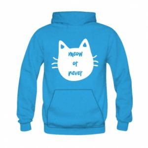 Kid's hoodie Meow or never