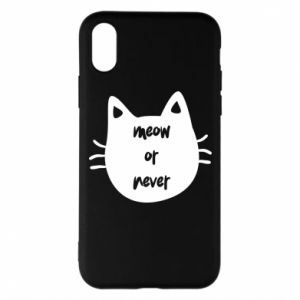 Etui na iPhone X/Xs Meow or never