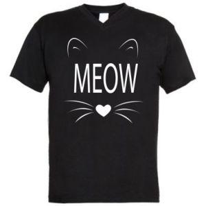 Męska koszulka V-neck Meow Fluffy