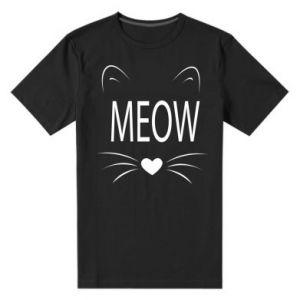 Męska premium koszulka Meow Fluffy