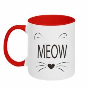 Kubek dwukolorowy Meow Fluffy