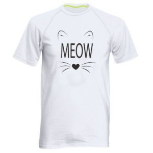 Men's sports t-shirt Fluffy Meow