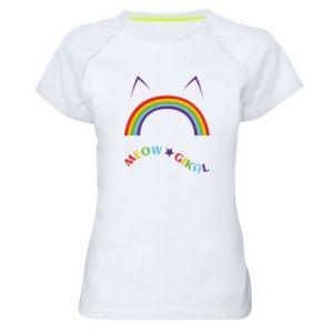 Koszulka sportowa damska Meowgikal