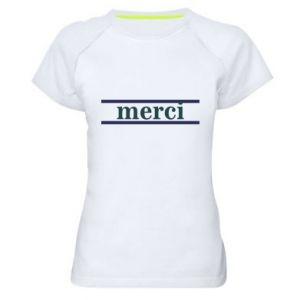 Koszulka sportowa damska Merci