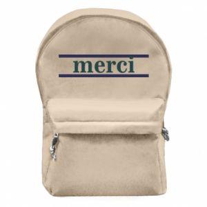 Plecak z przednią kieszenią Merci