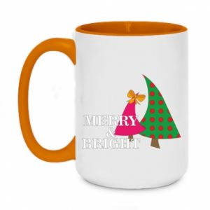 Two-toned mug 450ml Merry and Bright