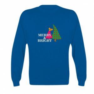 Kid's sweatshirt Merry and Bright