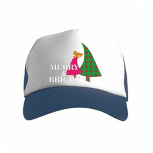 Kid's Trucker Hat Merry and Bright