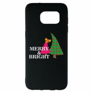 Samsung S7 EDGE Case Merry and Bright
