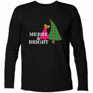 Koszulka z długim rękawem Merry and Bright