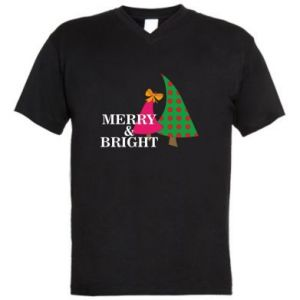 Men's V-neck t-shirt Merry and Bright
