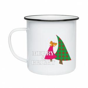 Enameled mug Merry and Bright