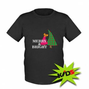 Dziecięcy T-shirt Merry and Bright