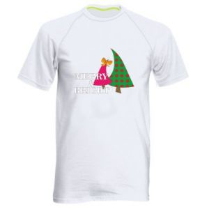 Men's sports t-shirt Merry and Bright