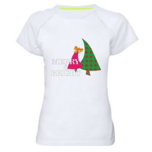 Women's sports t-shirt Merry and Bright