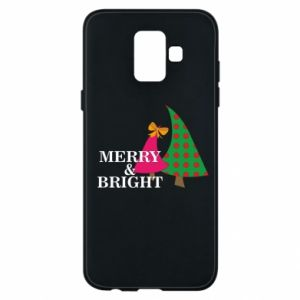 Phone case for Samsung A6 2018 Merry and Bright