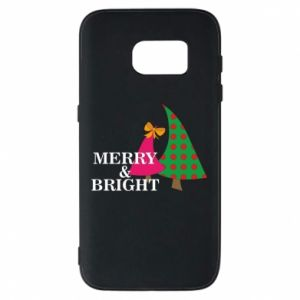 Phone case for Samsung S7 Merry and Bright