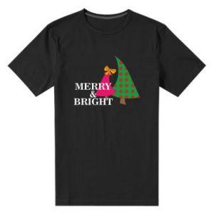 Męska premium koszulka Merry and Bright