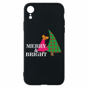 Phone case for iPhone XR Merry and Bright