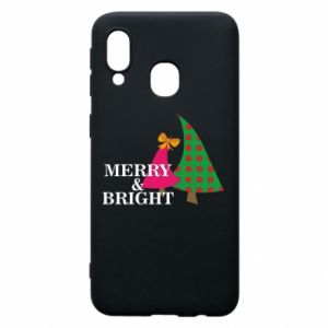 Phone case for Samsung A40 Merry and Bright