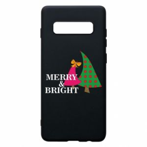 Phone case for Samsung S10+ Merry and Bright