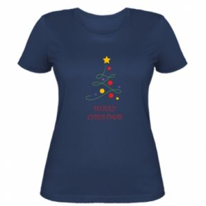 Women's t-shirt Merry Christmas, christmas tree