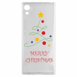 Sony Xperia XA1 Case Merry Christmas, christmas tree