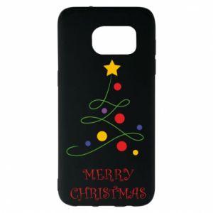 Samsung S7 EDGE Case Merry Christmas, christmas tree