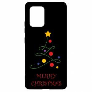 Samsung S10 Lite Case Merry Christmas, christmas tree