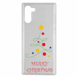 Samsung Note 10 Case Merry Christmas, christmas tree