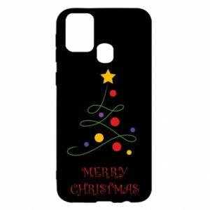 Samsung M31 Case Merry Christmas, christmas tree