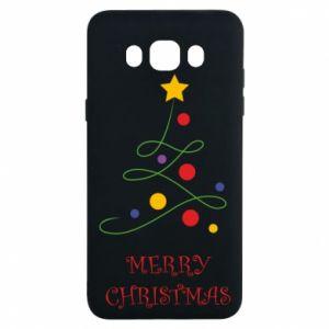 Samsung J7 2016 Case Merry Christmas, christmas tree