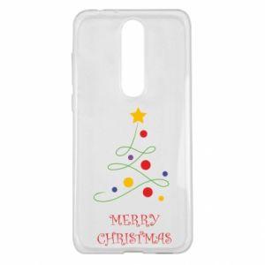 Nokia 5.1 Plus Case Merry Christmas, christmas tree