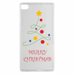 Huawei P8 Case Merry Christmas, christmas tree