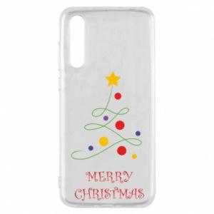 Huawei P20 Pro Case Merry Christmas, christmas tree