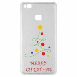 Huawei P9 Lite Case Merry Christmas, christmas tree