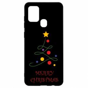 Samsung A21s Case Merry Christmas, christmas tree