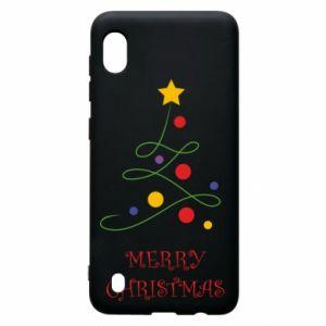 Samsung A10 Case Merry Christmas, christmas tree