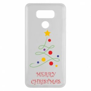 LG G6 Case Merry Christmas, christmas tree