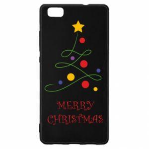 Huawei P8 Lite Case Merry Christmas, christmas tree