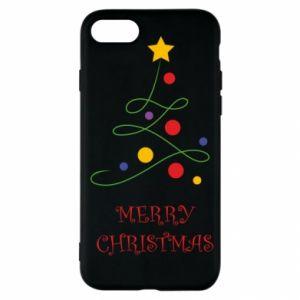 iPhone SE 2020 Case Merry Christmas, christmas tree