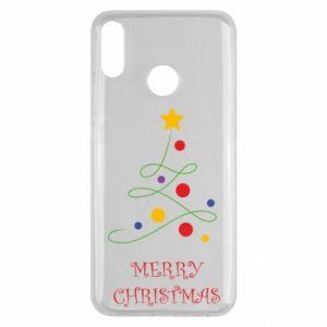 Huawei Y9 2019 Case Merry Christmas, christmas tree