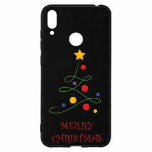Etui na Huawei Y7 2019 Merry Christmas, christmas tree