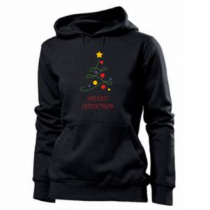 Women's hoodies Merry Christmas, christmas tree